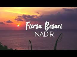 chords for fiersa besari nadir unofficial lirik video