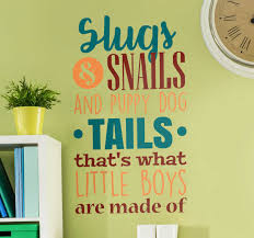 Slugs And Snails Children S Wall Sticker Tenstickers