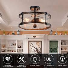 tangkula semi flush mount ceiling light