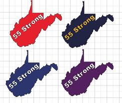 55 Strong Car Decal 55 United Wv Teachers And State Workers Etsy