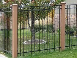 Metal Fence With Posts Iron Fence Wrought Iron Fences Backyard Fences