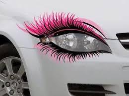 Sticker Pair Novelty Car Eye Lashes Eyelashes Headlight Car Pink Mascara Eyebrow Pink Car Accessories Car Bling Girly Car Accessories