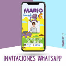 Invitacion Digital Dinosaurios Doys Photocall Para Whatsapp E