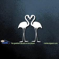 Twin Flamingos Car Decal Window Sticker Graphic
