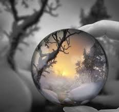 Pin by Jolene West, LE on ZIMOWE KRAJOBRAZY WINTER | Crystal ball,  Reflection photography, Glass photography