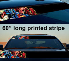 Buy 60 Clark Kent Angry Justice Kryptonian Comic Sun Strip Printed Windshield Car Vinyl Sticker Decal
