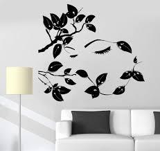Vinyl Wall Decal Beautiful Tree Branches Girl Eyes Eyelash Woman Stick Wallstickers4you