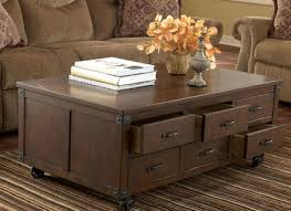 storage coffee table rustic traditional