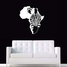 Africa Zebra Map Wall Stickers Large New Design Coffee Shop Decal Vinyl Poster Sticker Wall Stickers Aliexpress
