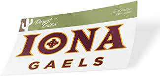 Amazon Com Iona College Gaels Ncaa Vinyl Decal Laptop Water Bottle Car Scrapbook Sticker 00001 Arts Crafts Sewing