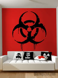 Dripping Biohazard Sign Wall Decal Radioactive Cosplay Toxic Etsy In 2020 Wall Signs Biohazard Sign Wall Decals