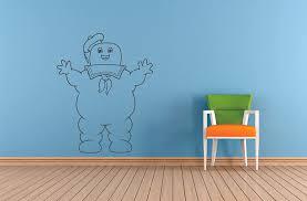 Amazon Com Stay Puft Marshmallow Man Cute Cartoon Ghostbusters Wall Sticker Art Decal For Girls Boys Room Bedroom Nursery Kindergarten House Fun Home Decor Stickers Wall Art Vinyl Decoration Size 10x8 Inch Baby