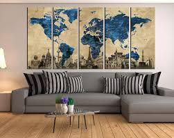 Extra Large Floral Wall Decal Map For Living Room Vinyl Art Nursery Cloud Chalkboard Custom Vamosrayos