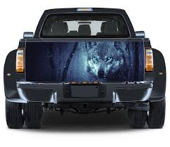 Truck Tailgate Graphics Winter Wolf Vinyl Decal Full Color Etsy