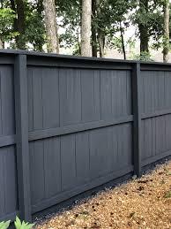 Dark Gray Fence Modern Design In 2020 Garden Fence Paint Backyard Fences Grey Fences