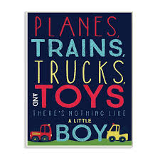 Shop The Kids Room By Stupell Planes Trains Trucks And Toys Wood Wall Art 13 X 19 Proudly Made In Usa 13 X 19 Overstock 30337328