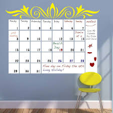 Dry Erase Calendar Wall Decal Trendy Wall Designs