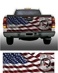 American Flag Pow Mia Truck Tailgate Vinyl Graphic Decal Wraps Ebay