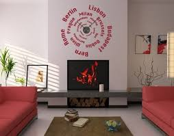 Cities Wall Decal Clock Contemporary Wall Decals By Style And Apply