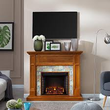 jeremiah faux stone media fireplace