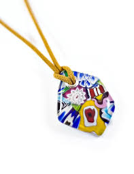 rainbow murano glass pendant by etglass