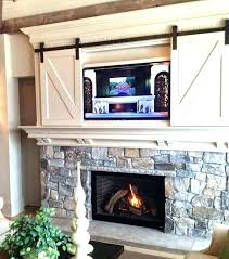 tv above mantel fireplace ideas with