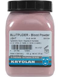 kryolan blood powder ingenue makeup