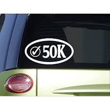 50k Check Oval H972 8 Sticker Decal Run Shoes Running Shorts Marathon Bottleunner Running Walmart Com Walmart Com