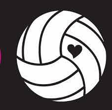Min Heart Volleyball Window Decal Orlando Volley Shop