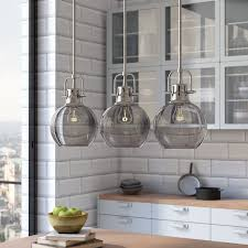 light kitchen island linear pendant