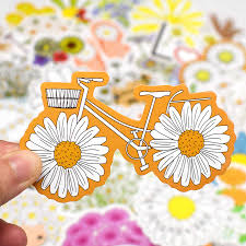 50 Pcs Daisy Stickers Cute Flower Anime Stickers For Laptop Skateboard Guitar Luggage Bicycle Motor Car Decal Waterproof Sticker Stickers Aliexpress
