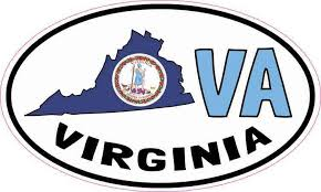 5in X 3in Oval Va Virginia Sticker Vinyl Car Bumper Decal Luggage Stickers Stickertalk