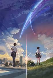 kimi no na wa anime series couple sky