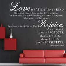 1 Corinthians 13 47 Love Is Patient Love Is Kind Wall Decal Decor Bible Wall Decals Love Is Patient Wall Decals