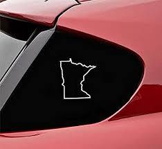 Amazon Com Slap Art Minnesota Mn State Outline Vinyl Decal Sticker Automotive