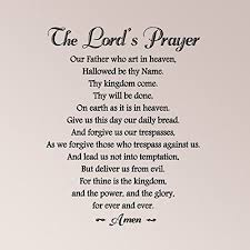 30x24 The Lords Prayer With Embellishment Our Father Who Art In Heaven Wall Decal Sticker Art Mural Home Our Father Who Art In Heaven The Lords Prayer Prayers