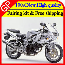 motorcycle fairing glossy silvery for