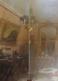 antiqued mirror glass golden raindrops