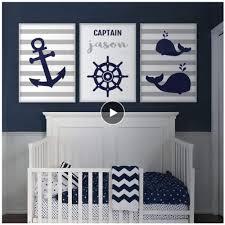 Amazon Com Xykshiyy Anchor Whale Wall Art Nautical Nursery Decor Canvas Art Prints Navy Blue Gray Boy Name Personalized Children S Baby Room Poster 50x70cmx3pcs No Frame Home Kitchen