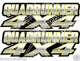 Outlander 400 4x4 Yellow Gas Tank Graphics Decal Sticker Atv Quad Car Window