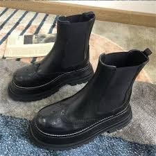 flat platform chelsea boots
