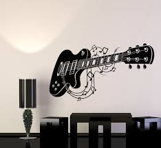 Vinyl Wall Decal Guitar Notes Music Shop Musical Instrument Stickers M Wallstickers4you