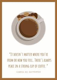brown coffee illustration quotes poster templates by canva