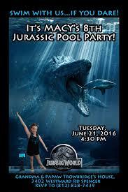 Jurassic World Invitation Ninos