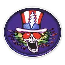 A569 Gary Gutierrez Psycle Sam Grateful Dead Movie Lightning Bolt Uncle Sam Art Decal Window Sticker