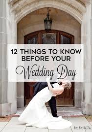 things to know before your wedding day
