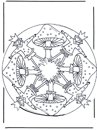 Mandala Met Paddestoel 1 Kleurplaten Herfst