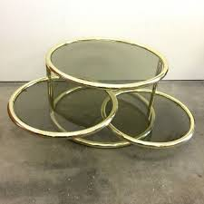 brass and glass coffee table three