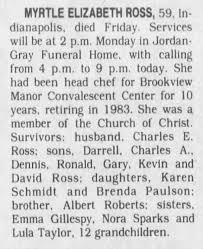 Myrtle Elizabeth Roberts Ross Death 1990 - Newspapers.com
