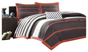 comforter sets with white stripes